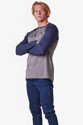 Big RVCA Raglan LS - Grey