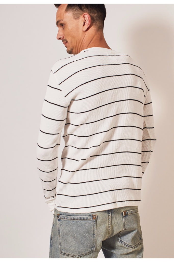 Neutral Thermal Stripe LS - White/Black
