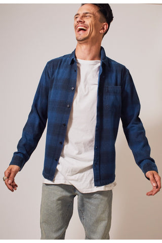 No Wave Checkered LS Shirt - Blue