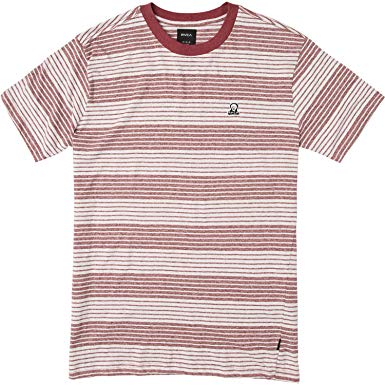 Longsight SS Tee - Bordeaux/ Stripe