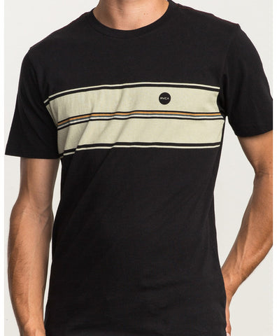 Motors Stripe Tee - Black/ Cream