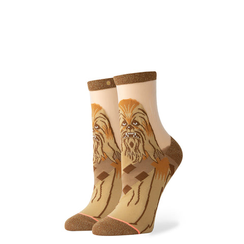 Chewbacca Monofilament Socks - Transparent/ Brown/ Gold
