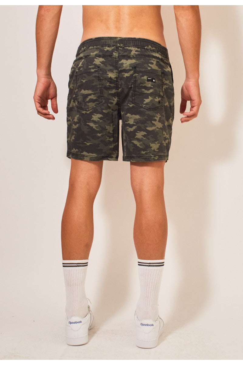 Trench Pull On Shorts - Camo