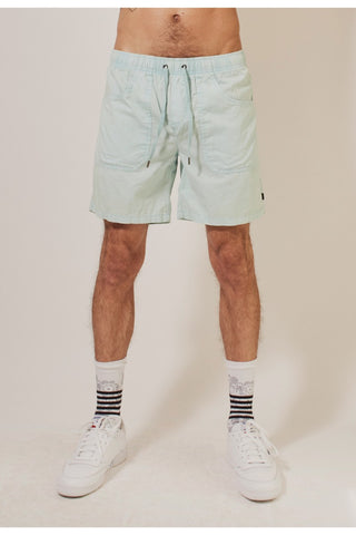 Lowers Pull On Shorts - Light Blue