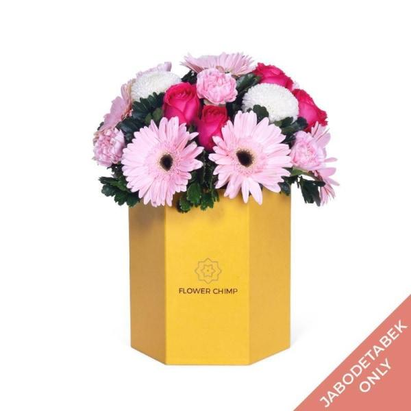 Boxed Bloom - Pretty In Pink Flowers_Box