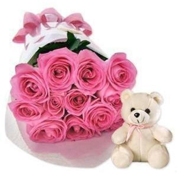Pink Breeze (Free Teddy Bear) Flowers_Bouquet