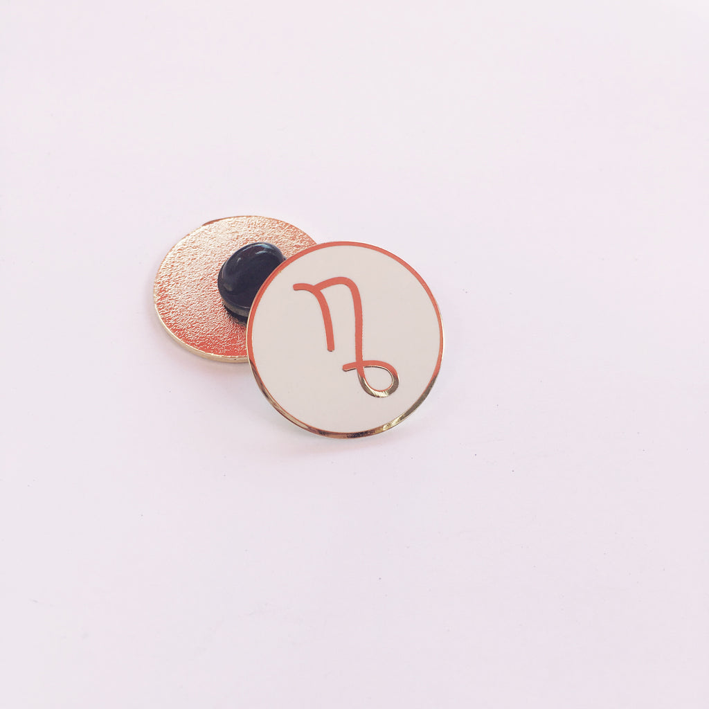 Zodiac Sign — Capricorn Lapel Pin