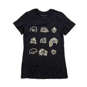 SHY GAL POWER GOLD FOIL TEE