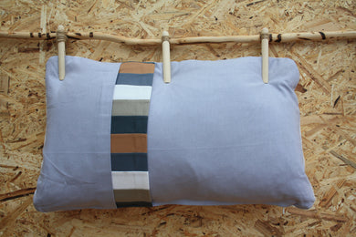 Light grey small cushion - Layers of the earth