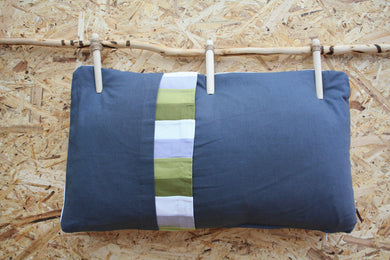 Small slate grey cushion - Layers of the earth