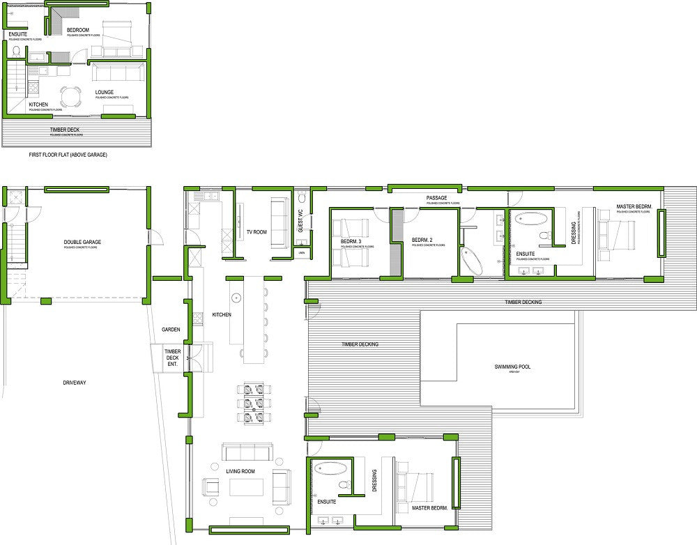 4 bedroom house plan eagles crescent ready2build for Modern house plans south africa pdf
