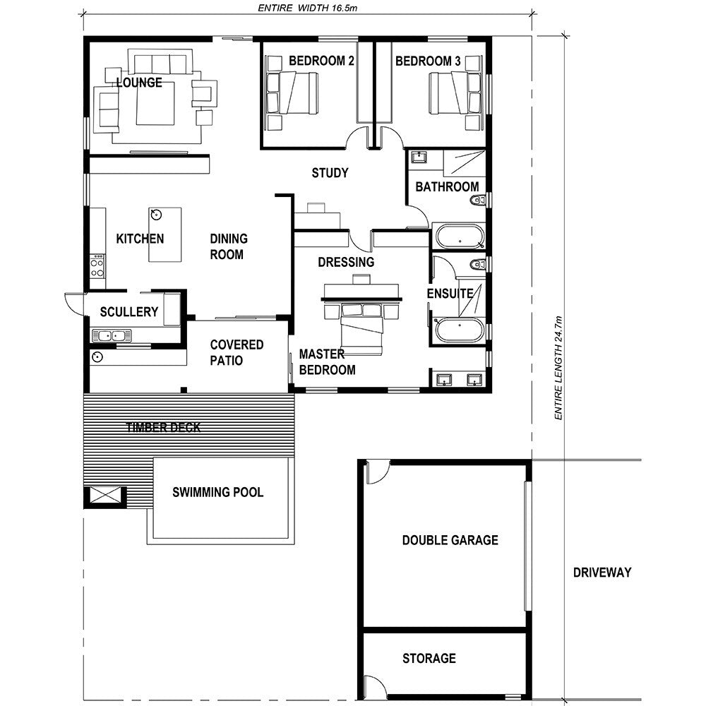 Caribbean House Plans Affordable 3 Bedrooms 2 Baths: 3 Bedroom House Plan [READY2BUILD] – HousePlansHQ
