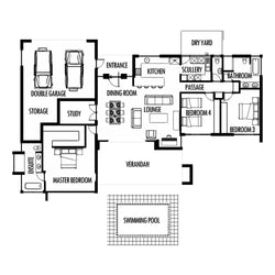 3 Bedroom 285m2 [FLOOR PLAN ONLY]