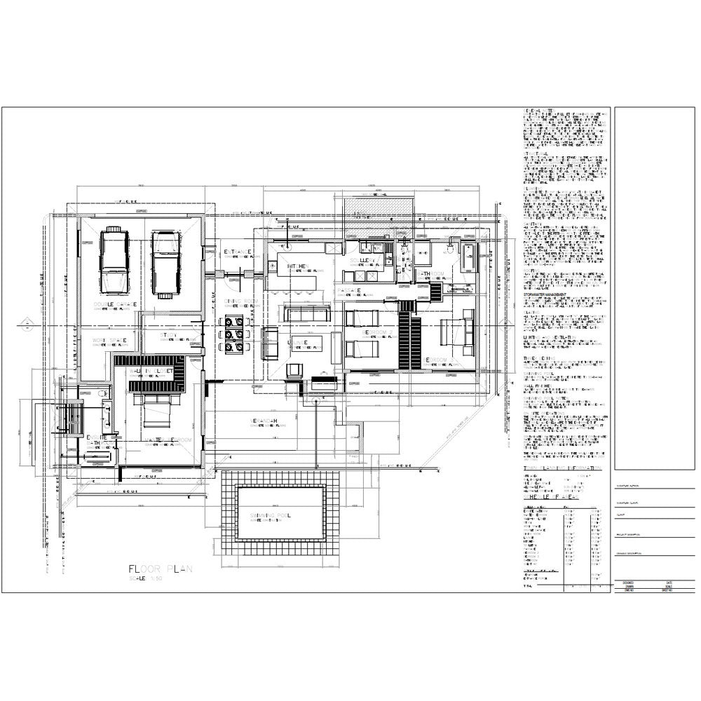 3 Bedroom House Floor Plans: 3 Bedroom 285m2 [FLOOR PLAN ONLY]