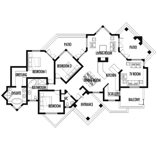 3 Bedroom 239m2 [FLOOR PLAN ONLY]