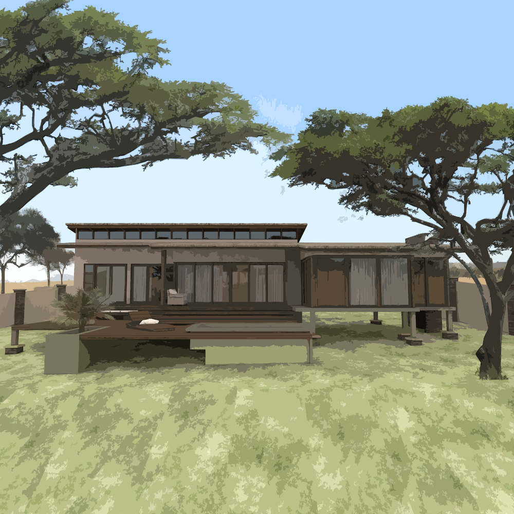 3d Modern House Plans Projects Collection: The Rhino Lodge [READY2BUILD]