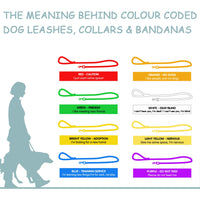 Meaning behind colours - Image from:https://www.petsplusus.com/pet-information/lifestyle/meaning-behind-colour-coded-dog-leashes-and-collars