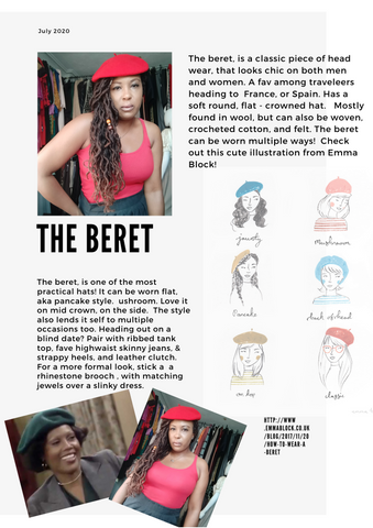 Wearing Vintage Hats, How to wear a Beret