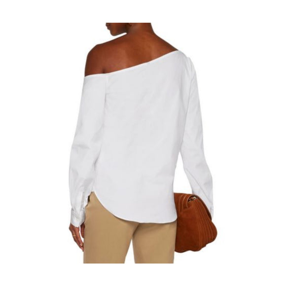 Theory Ulrika Dropped Shoulder Stretch Cotton Shirt Size L