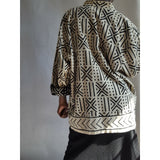 Mud Cloth Reversible Jacket Size L