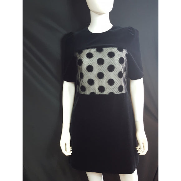 Jill Stuart Velvet Polka Dot Cocktail Dress Size Small