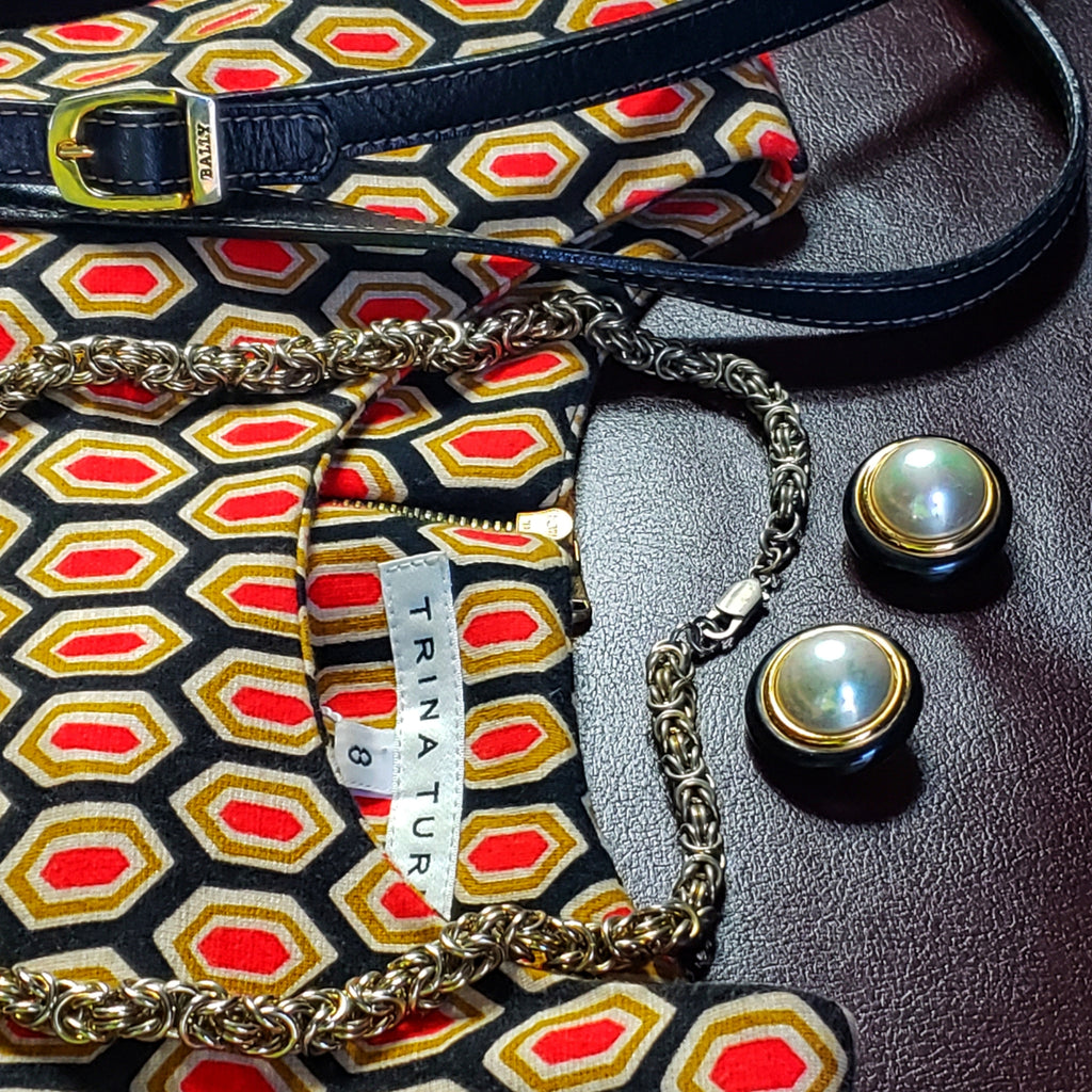 Trina Turk Geometric Knit Top