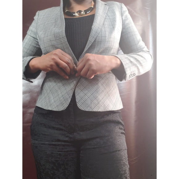 Banana Republic Plaid Blazer Size 10P
