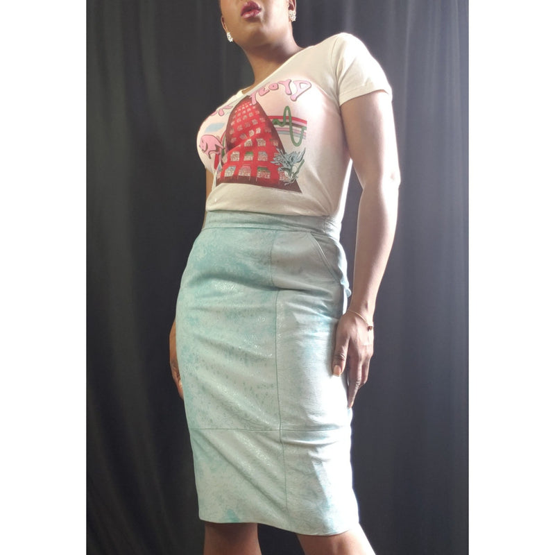 Lillie Rubin Leather Pencil Skirt Size 12
