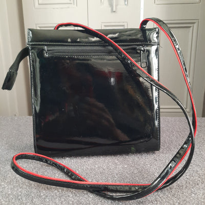 Vintage Quilted Patent Leather Crossbody Bag