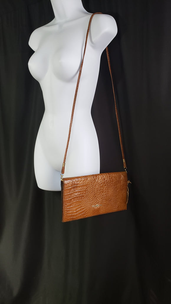 Vintage Gala Di Roma Leather Clutch