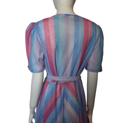 1970's Diagnoal Stripe Dress Size M