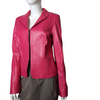 Pink Leather Blazer Jacket Size M