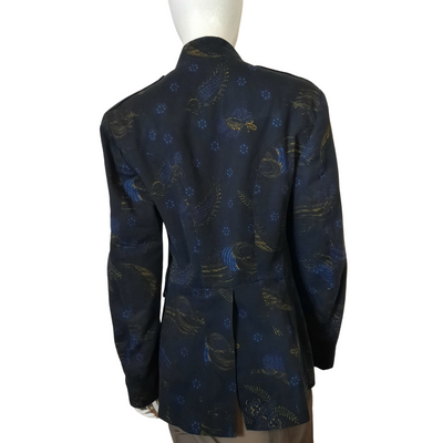 Vintage Dries Van Noten Mandarin Collar Button Up Jacket Size 50