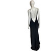 OHLIN/D Black Floor Length Silk Slip Dress size M