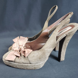Moschino Suede Slingback Pumps Size 37