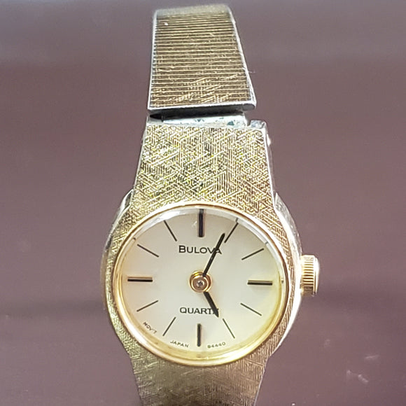 Vintage Bulova Gold Stainless Steel Watch