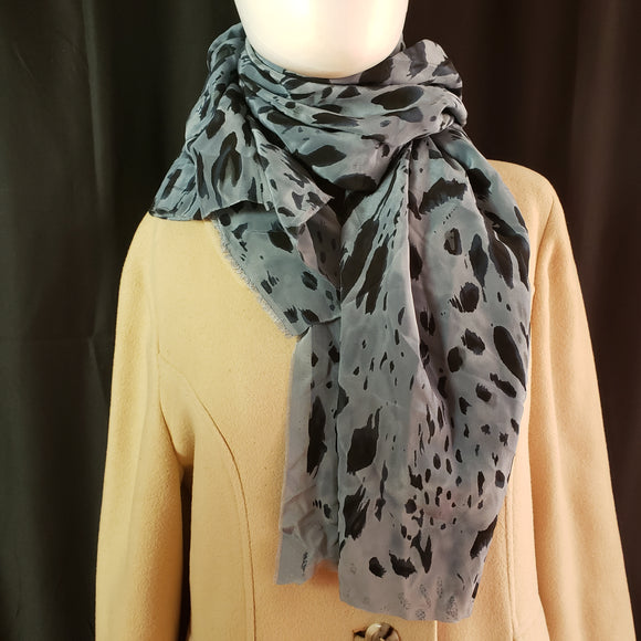 Silk Ink Splash Square Scarf/Shawl