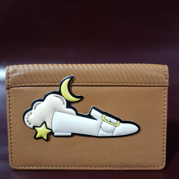 Custom Bally Let's Stick Together Genuine Leather Sticker Wallet