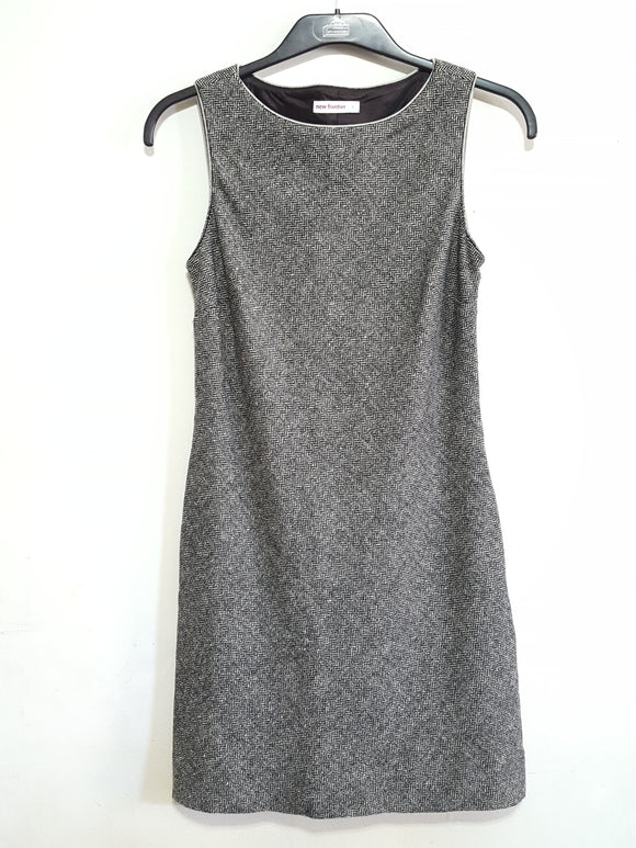 New Frontier Herringbone Tweed Sheath Dress Sz.4