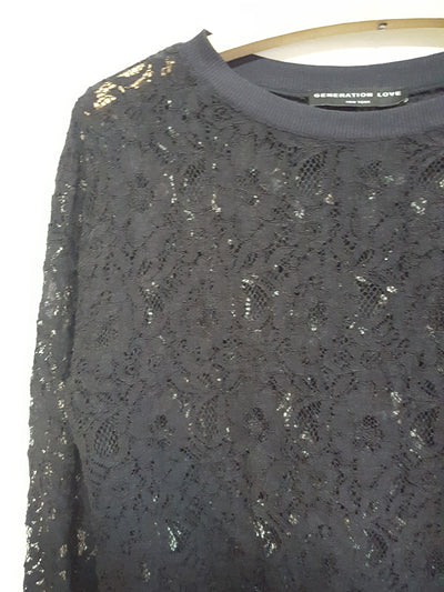 Generation Love Longsleeve Lace Top Sz.M, Tops, Generation Love, [shop_name