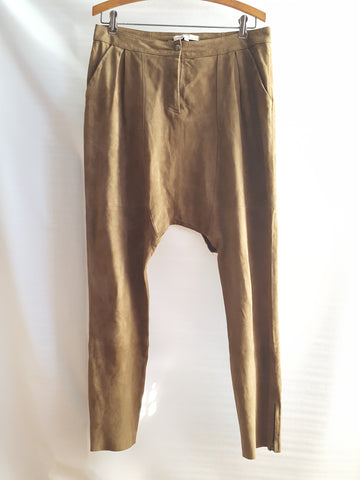 Maje  Suede Harem Skinny Pants sz. 40 - Wells Resale and Company