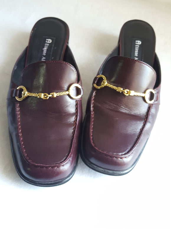 Vintage Eitenne Aigner Slide -in Loafers sz. 9