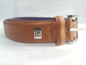 Ike Behar Leather Belt Size 38