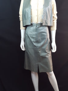 Leather Skirt Suit size M