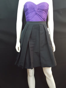 Pink Tartan Pleated Black Mini Skirt size 4
