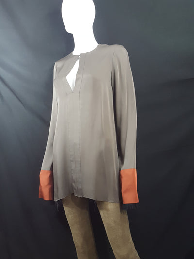 Theory Silk Frayed Hem Tunic sz. S, Dresses, Theory, [shop_name