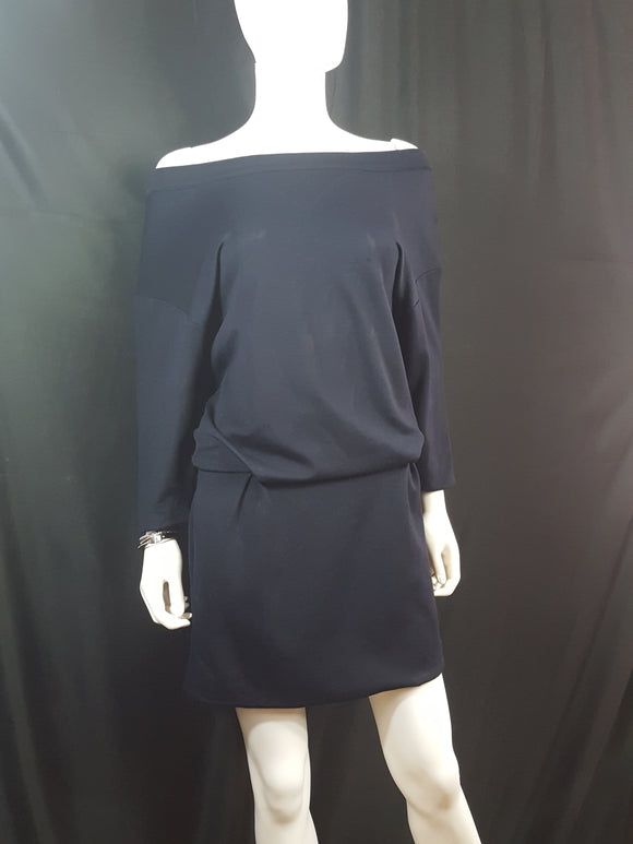 Thakoon  Off the Shoulder Knit Casual Dress Navy size 2
