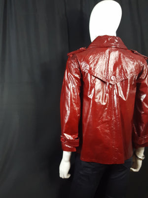Theory Oberon Patent Leather Cropped Trench Jacket sz. S