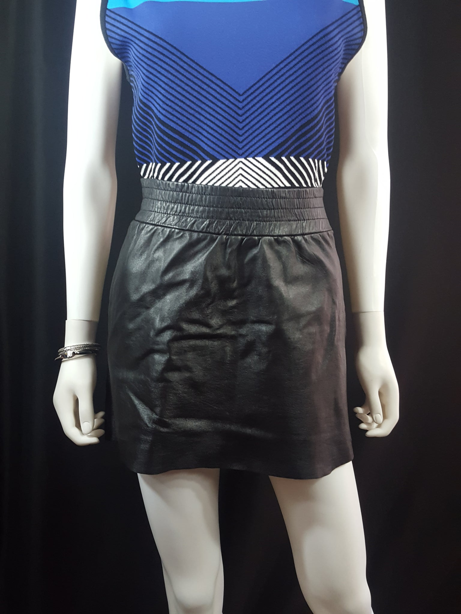 Maje Jalouse Leather Mini Skirt sz. M