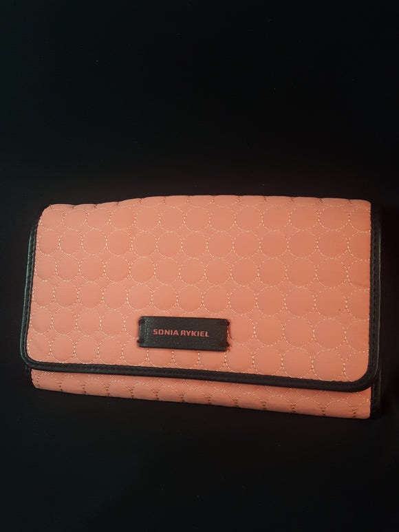 Sonia Rykiel Salmon Circle Quilted Wallet